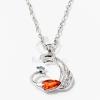 Páva medálos nyaklánc narancssárga kővel jwr-1329
