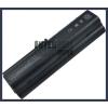 Pavilion dv6500 Series 6600 mAh 9 cella fekete notebook/laptop akku/akkumulátor utángyártott