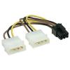 PCIe VGA tápkábel átalakító 6 pin (molex-rõl)