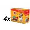 Pedigree Adult Alutasakos kutyaeledel, 4 féle ízben, 4x12 darab