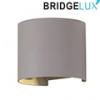 Pegasi kültéri lámpatest, szürke, kör (6 Watt BL) meleg fehér