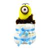 Pelenkatorta Webshop Babaváró ajándék ötlet: Minion Caveman Stuart pelenkatorta kék