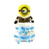 Pelenkatorta Webshop Babaváró ajándék ötlet: Minion IceVillage Stuart pelenkatorta kék