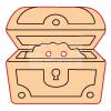 Pentacolor Kft. Pentart Fafigura gomb 23379 – kincsesláda 10 db/csomag
