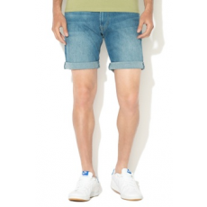 Pepe Jeans London , Cane straight fit farmer bermuda nadrág, kék, 34 (PM800543GF7-000-34)