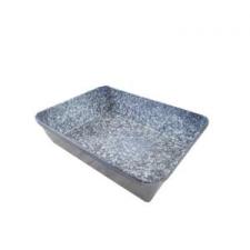 Perfect home 14281 Zománcozott tepsi 24x18cm kék edény