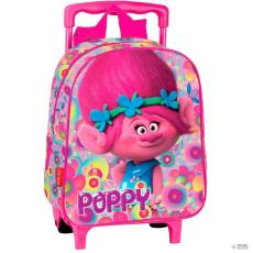 PERONA gurulós táska Trolls Trollok Poppy virágos 28cm gyerek
