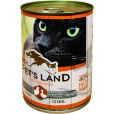 PET'S LAND Cat konzerv baromfival (48 x 415 g) 19.92kg macskaeledel