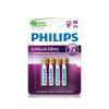 Philips FR03LB4A/10 - 4 db lítium elem AAA LITHIUM ULTRA 1,5V