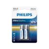 Philips LR6E2B/10 - 2 db alkáli elem AA ULTRA ALKALINE 1,5V