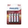 Philips LR6P4B/10 - 4 db alkáli elem AA POWER ALKALINE 1,5V