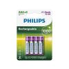 Philips R03B4RTU10/10 - 4 db tölthető elem AAA MULTILIFE NiMH/1,2V/1000 mAh
