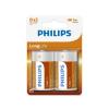 Philips R20L2B/10 - 2 db cink-klorid elem D LONGLIFE 1,5V