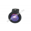Phobya kerek kétállású kapcsoló - kék világítás - unipoláris ON/OFF(3-Pin)