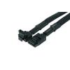 Phobya SATA 3.0 csatlakozókábel 30cm biztonsági hevederrel - fekete