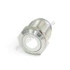 Phobya Vandalism Proof nyomógomb 16mm - rozsdamentes acél, fehér pont világítás, 5pin