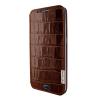 Piel Frama Samsung Galaxy S6 Edge Plus Framaslim eredeti krokodilbőr tok, barna
