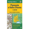 Piemonte és Valle d'Aosta térkép - TCI
