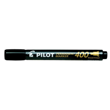 "Pilot Alkoholos marker, 1,5-4 mm, vágott, PILOT ""Permanent Marker 400"", fekete filctoll, marker"