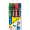 "Pilot Alkoholos marker, 1 mm, kúpos, PILOT \""Permanent Marker 100\"", 4 szín [4 db]"