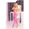 Pink Lipstick Lingerie Sleek and shiny pink leggings: S/M