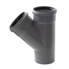 Pipelife Hungária Műanyagipari Kft. PVC 32/32/45°-os tokos lefolyócső ágidom hűtés, fűtés szerelvény
