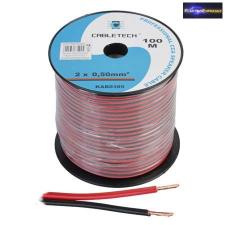 Piros-Fekete Hangszóró kábel 2x0,75mm2 CCA hangszóró