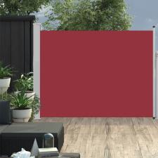 Piros kihúzható oldalsó teraszi napellenző 140 x 500 cm kerti bútor
