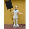 Pizzás fiú/175 cm/fehér kötényben
