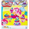 Play-Doh Én Kicsi Pónim: Pinkie Pie süti partija 5 darabos gyurmakészítő szett