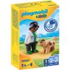 Playmobil 1.2.3 állatorvos és kutya 70407