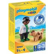 Playmobil 1.2.3 állatorvos és kutya 70407 playmobil