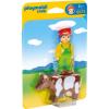 Playmobil 1.2.3 Farmer és tehéne 6972