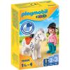Playmobil 1.2.3 lovas és ló 70404