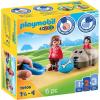 Playmobil 1.2.3 sétáltatható kutya és figura 70406