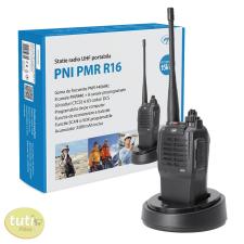 PNI 15km-es, akkumulátoros UHF adó-vevő, dokkolóval (PNI-PMRR16) dokkolóállomás