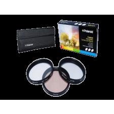 Polaroid szûrõszett (UV, CPL, FLD) + 4 db-os szûrõtok 62 mm objektív szűrő