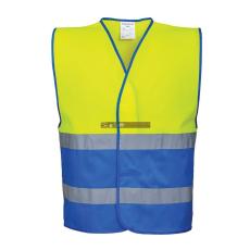Portwest C484 Hi-Vis Kéttónusú jól láthatósági mellény (sárga/Royal kék)