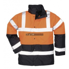 Portwest S467 Kéttónusú Traffic kabát (NARANCS/FEKETE)