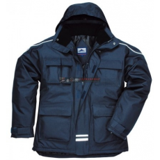 Portwest S563 RS Sokzsebes kabát (NAVY S)