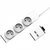 PowerCube PowerStrip Moduláris 3m kábel + USB modul