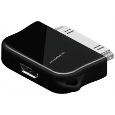 Powery USB-adapter Micro-USB -> iPhone - iPod, iPhone, vagy iPad fekete (nem Apple Lightning Connector) tablet kellék