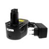 Powery Utángyártott akku Black & Decker Akkus fúró csavarbehajtó CD14CAB Li-Ion +töltő