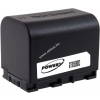 Powery Utángyártott akku videokamera JVC GZ-HM330SEU 3,6V 2670mAh Li-Ion fekete (info chip-es)