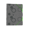 Pp Gumis mappa -2-522- 30 mm A4 szürke-zöld P+P