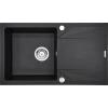 Premier Astro egy medence + csepegtető gránit mosogató, antracit
