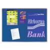 Premium filc pinboard, 45x60 cm, kék