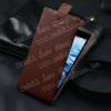 PRÉMIUM flip tok - lefelé nyíló, rejtett mágneses záródás, bankkártya tartó, nanopad szerû készülék rögzítés! - BARNA - ACER Liquid Z500