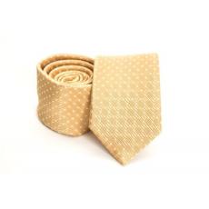 Prémium slim nyakkendõ - Sárga mintás