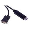 PremiumCord DisplayPort - DVI-D interfész, árnyékolt, 1m